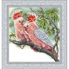 Набор для вышивания крестиком Сделано с любовью Розовые какаду (Ж-11)