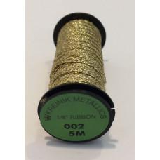 Металлизированная нить Kreinik #1/8 Ribbon 002