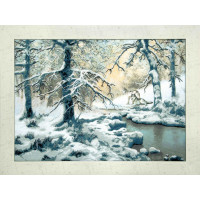 Набор для вышивания крестиком Чарівна мить Волки возле зимнего ручья (РК-077)