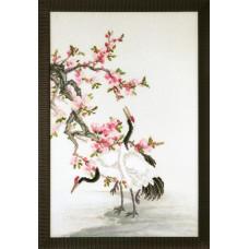 Набор для вышивания крестиком Чарівна мить Журавли, собирающие росу (РК-121)