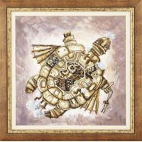 Набор для вышивания крестиком Чарівна мить Золотая черепаха (РК-135)