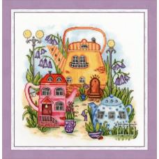Набор для вышивания крестиком Золотое руно Чайный городок (СШ-019)