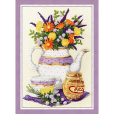 Набор для вышивания крестиком Золотое руно Лаванда и мёд (СЖ-053)