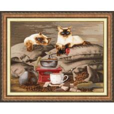 Набор для вышивания крестиком Золотое руно Хранители кофе (СЖ-058)