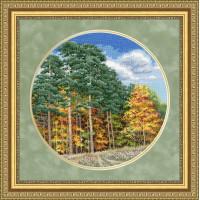 Набор для вышивания крестиком Золотое руно Осенний лес (ВМ-032)