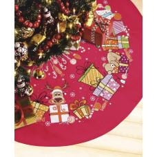 Набор для вышивания крестиком Crystal Art Юбка для новогодней елки (ВТ-229 )